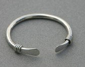 Sterling Silver Vintage Tribal Rope Bangle