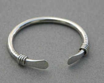 Sterling Silver Vintage Tribal Rope Bangle Custom for Kimmie