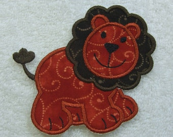 Lion Patch Fabric Embroidered Iron On Applique Patch Ready to Ship
