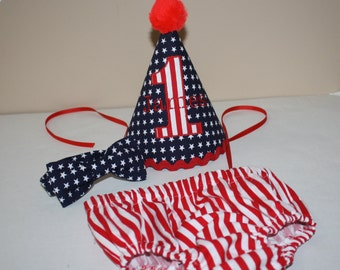 4th of July cake smash outfit july 4th boys first birthday outfit boys 1st birthday navy blue white stars red stripe boys diaper cover