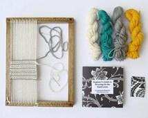 Weaving Loom Kit for Hand Weaving - Oak Finish Loom