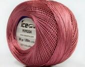 Antique Pink Mimosa Size 10 Microfiber Crochet Thread - Ice 39147 - 50 gram 273 yds - Bedspread, Needlepoint, Cross Stitch, Fiber Jewelry