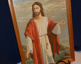 Vintage Paint by Number- Jesus Feeds 5000