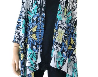 Kimono/ Kimono cardigan-Butterfly effect Ruana  summer collection- Semi sheer Layering piece