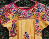 Yellow and Multi Colored and Gold Mexican Wedding Dress