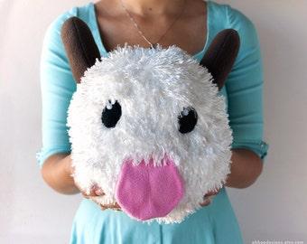 Cute Poro Plush - League of Legends - Plushie Poro - Poro Pillow - Poro Toy - Poro Gift -  Poro Birthday Gift  - Gift Wrapped - Ships Fast!