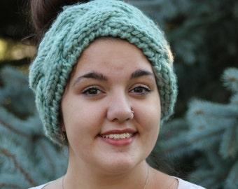 Light Green Knit Headband/Cowl