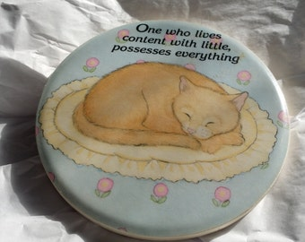 Cat Fridge Magnet Positive Saying