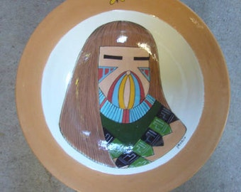 Hand painted SW Kachina bowl