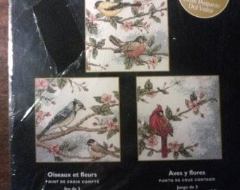 Birds and Blossoms Cross Sititch Kit
