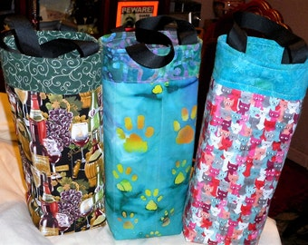 Quilted Wine Totes For Pet Lovers