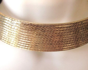 SALE Silver plate Choker Collar