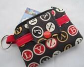 Zippy Wallet Pouch Key Type Writer Keys Card holder -
