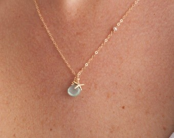 Beach Jewelry, Starfish Necklace, Starfish, Summer Necklace, Spring Necklace, 14K Gold Necklace, Gold Jewelry, Delicate Gold Necklace, Gold