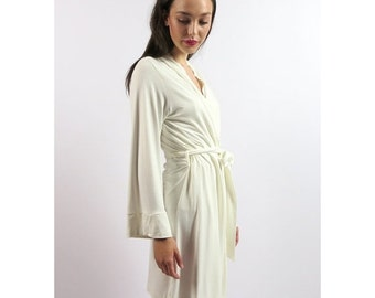 short bamboo robe - GEM sleepwear range - made to order