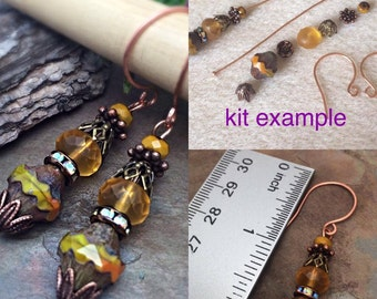 Do it Yourself Easy Pumkin Spice Earring Kit, U CAN DO IT Exclusive Earring Kit, Easy, Simple