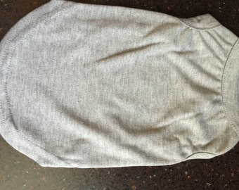 S  cotton blend t-shirt Dog or Cat Heather Grey Make Your Own Pet Clothing DIY