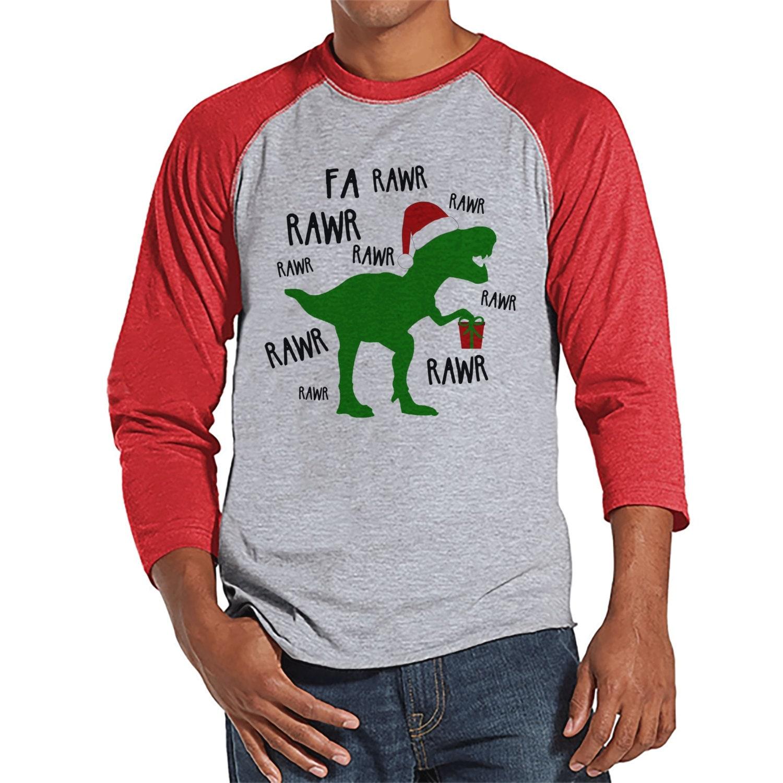 Dinosaur Christmas Shirt Funny Men's Christmas Shirt