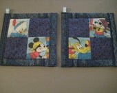 Disney Stars on Blue Kitchen Potholder Set