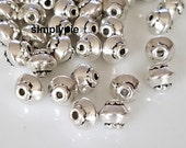 5mm Antiqued Silver Bicone Tibetan Style 50 Spacer Metal Beads