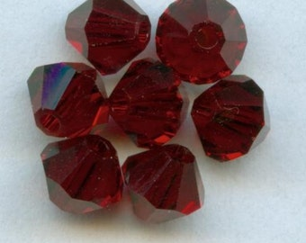 Clearance sale 6mm Swarovski Crystal beads Bicones --  Garnet (dark red) -- 24 beads per package