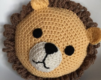 Crochet Lion Pillow