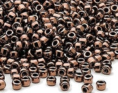 Size 8/0 iris bronze Dyna-Mites glass seed beads, 20 grams