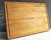 Vintage Maple Chopping Block, Aged Cutting Board , Rustic Butcher Block, Wood Kitchen Board,  Distressed Aged Wood, Seasoned Maple Chopping