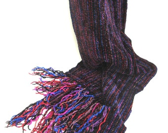 vintage soft rayon scarf   ...    handwoven artisan scarf  ...  california