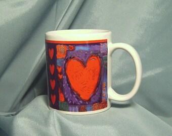 Vintage Hallmark Hearts Coffee Mug