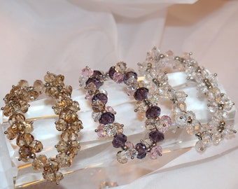 Octagon Crystal Bracelet: multiple colors available