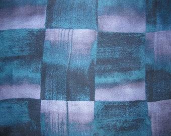 Vintage Square Silk Ellen Tracy Scarf - Geometric Square/Basketweave Pattern in Dark Blue, Purple - Small, Pochette Size
