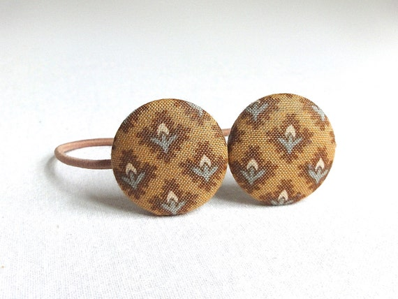 Ponytail Holder Set of 2  - Honey and Brown - Hair Accessories - READY TO SHIP