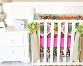 Ritzy Baby Made to Order Custom Baby Bedding, Santa Maria & Burlap Crib Bedding