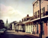 "New Orleans Art.  ""Walking on Orleans"" French Quarter Photograph. Architecture, Mardi Gras."