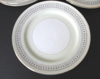 Set of Five (5) Narumi Salad Plates - Laurel Pattern - Occupied Japan