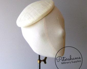 16cm Round Sinamay Button Fascinator Base Sinamay Millinery Fascinator Hat Base - Ivory