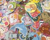 50 pieces Kawaii stationary (stickers + memo sheets)