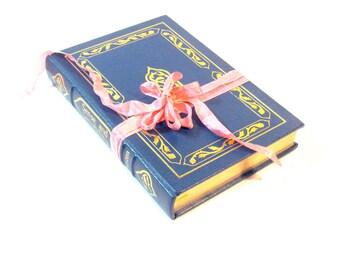 Sense and Sensibility by Jane Austen, Easton Press 1985, Genuine Leather, Slate Blue Austen Decor, Austen Wedding Decor, Jane Austen Book