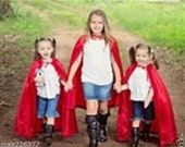 New hooded princess Little Red riding hood Inspired Costume  cape girl toddler 3-6 years