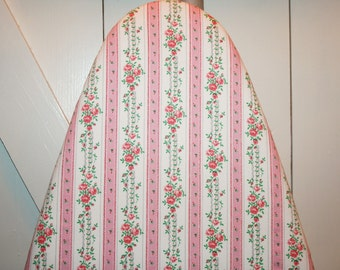 Beautiful Rose Trellis Design Newly Handmade Vintage Ticking Ironing Board Cover