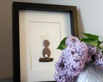Bunny Rabbit Sea Glass Art