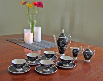 Price Reduced - Antique Alka Bavaria Tea - Coffee - Demitasse 16 piece Set - small size - Pot, Sugar and Creamer, 5 cups, 6 saucers