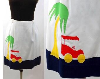 1960s golf sjirt Haymaker appliqued skirt sportswear Size M