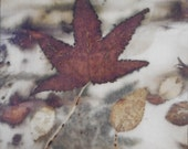 Small Autumn Leaves on silk II