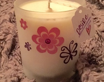 Desire scented soy candle