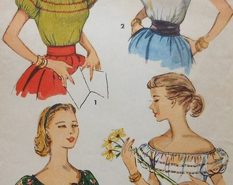 Vintage Blouse Sewing Pattern Simplicity 4678 Size 14