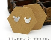 53X46MM Kraft Paper Hexagon shape Earring Display Tags/ Earring Display Cards / Earring Holder, Jewellery Supplies, Packaging (TAG31)