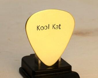 Kool Kat Handmade Brass Guitar Pick for Groovy Vibes - GP818