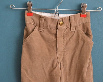 Vintage Early 80s Tan Corduroy Pants by Health-tex - Size 4T